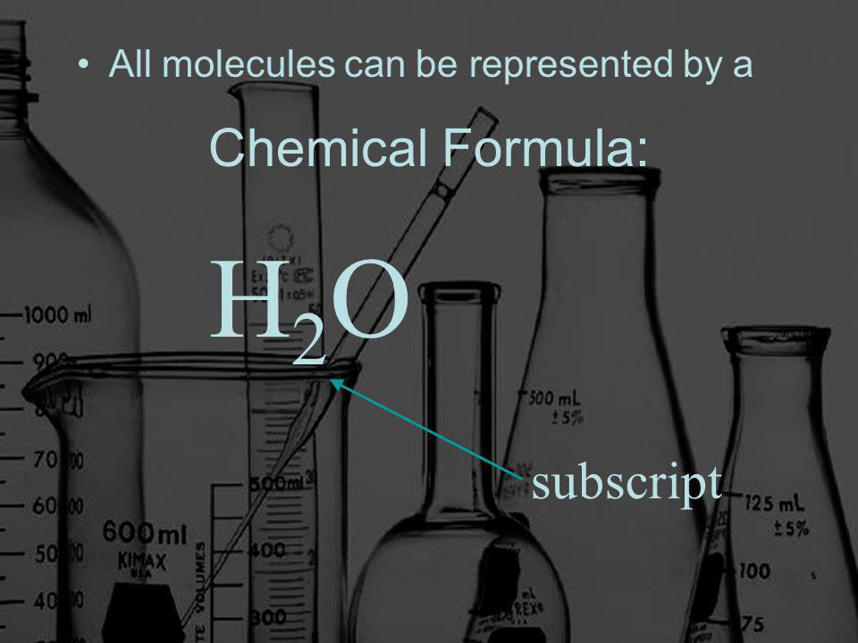 Chemical Formula: All molecules can be represented by a H2OH2O subscript