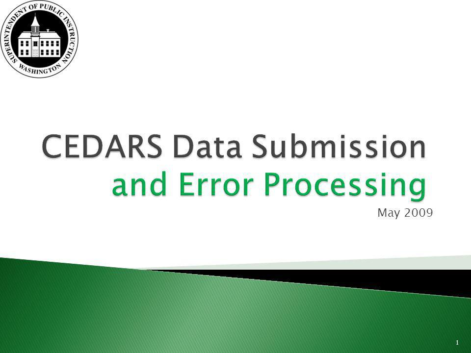 Process errors occur when: Data formats are incorrect Required data elements are missing data or have invalid values The first step in error reconciliation is to review and correct process errors 12 May 2009