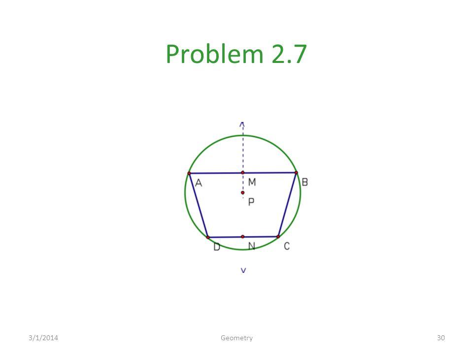 Problem 2.7 3/1/201430Geometry