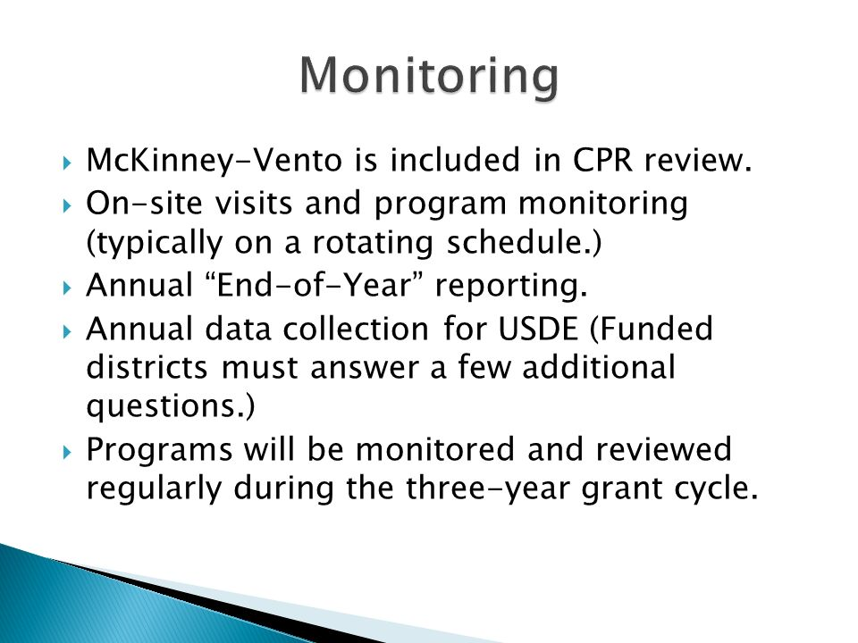 McKinney-Vento is included in CPR review.