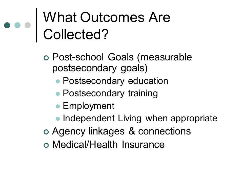 What Outcomes Are Collected.