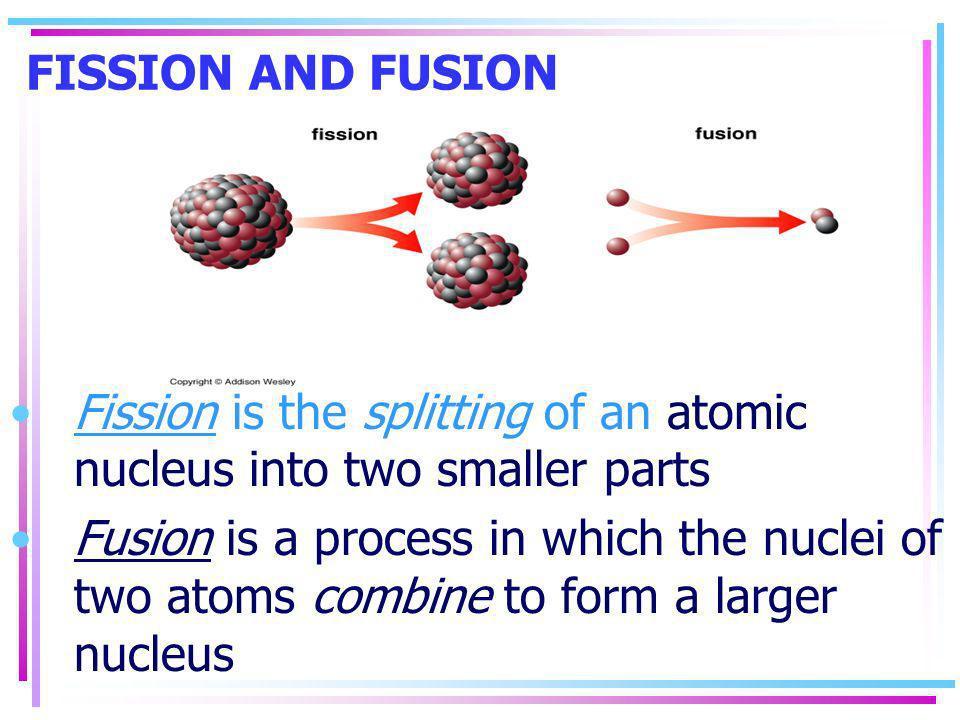 Fusion & Fission