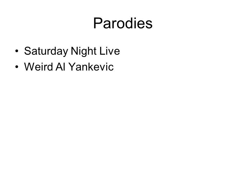 Parodies Saturday Night Live Weird Al Yankevic