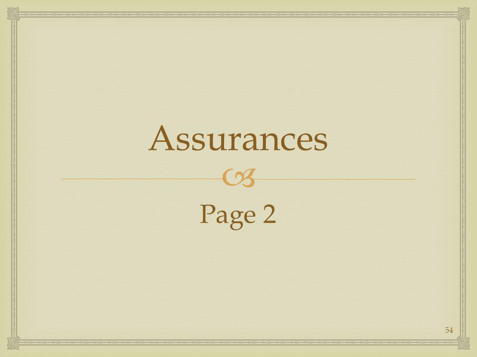 Assurances Page 2 54