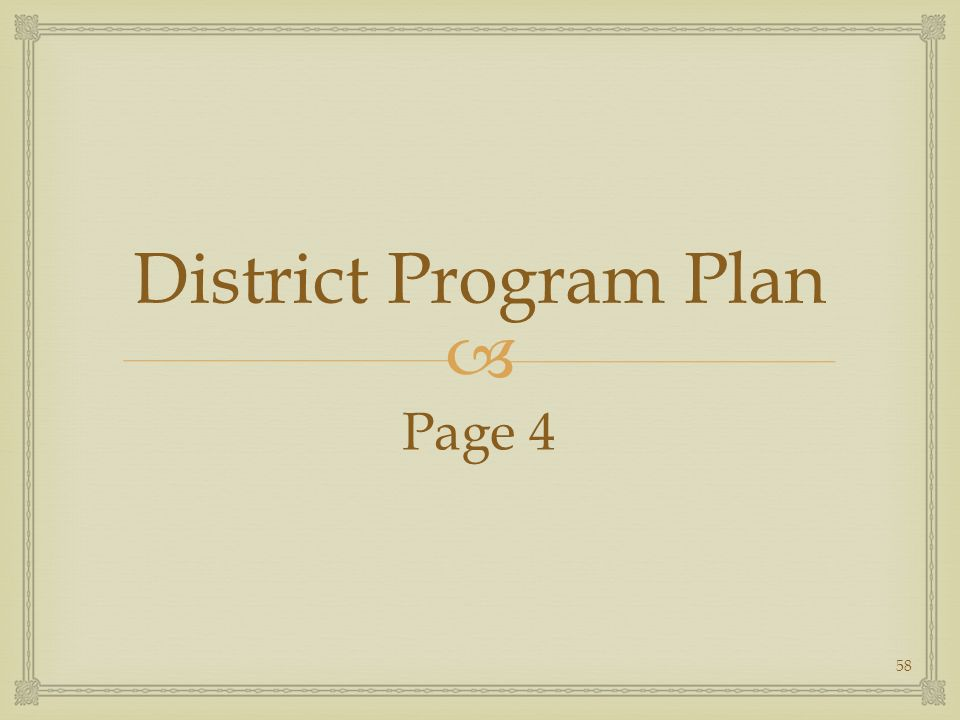 District Program Plan Page 4 58