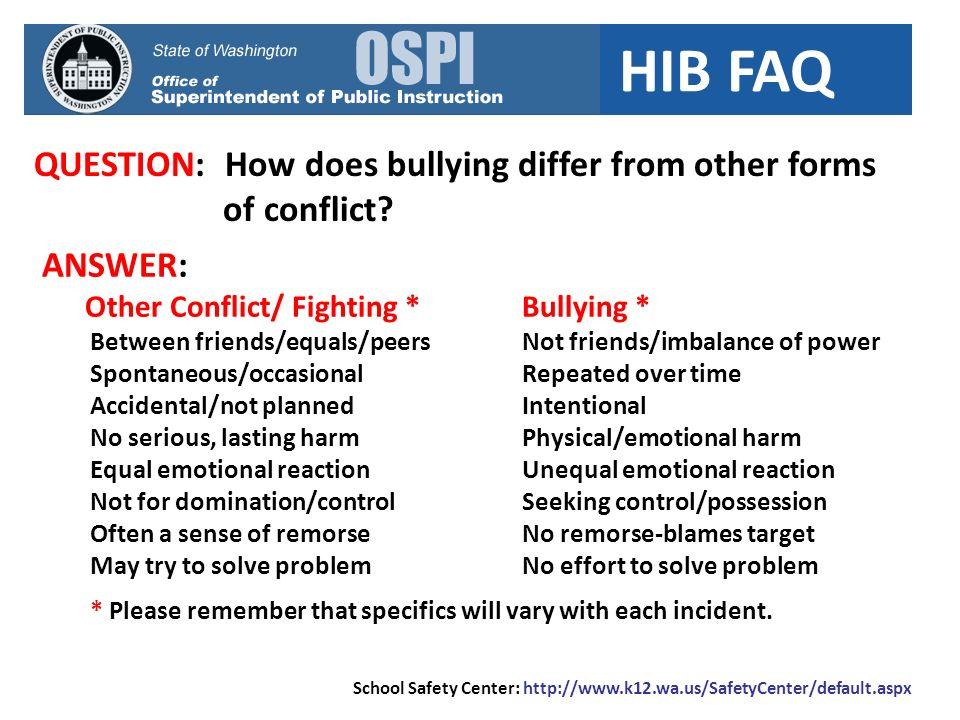 HIB FAQ QUESTION: Is HIB training required.ANSWER: Yes.