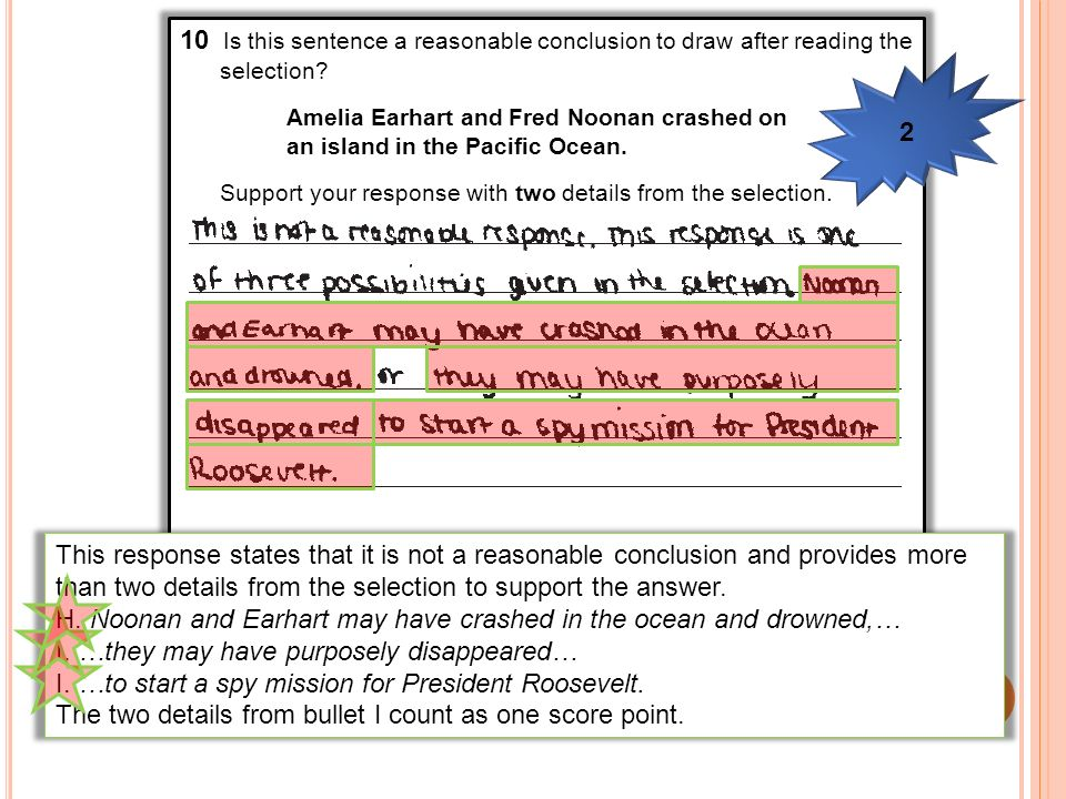 10 Is this sentence a reasonable conclusion to draw after reading the selection? Amelia Earhart and Fred Noonan crashed on an island in the Pacific Oc