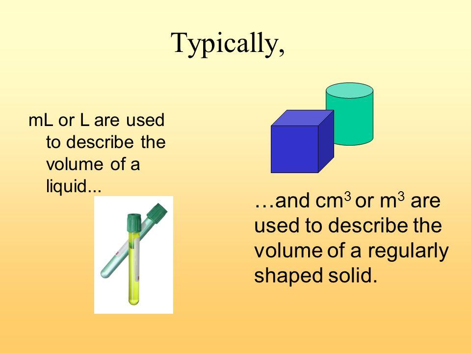 Prefixes ExampleMeans..SymbolPrefix cghundredthccenti- g millionth micro- kmthousandkkilo- mLthousandthm milli- every student should know…