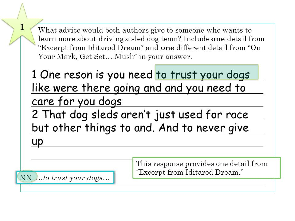 8 What advice would both authors give to someone who wants to learn more about driving a sled dog team? Include one detail from Excerpt from Iditarod