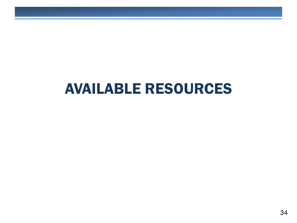 AVAILABLE RESOURCES 34