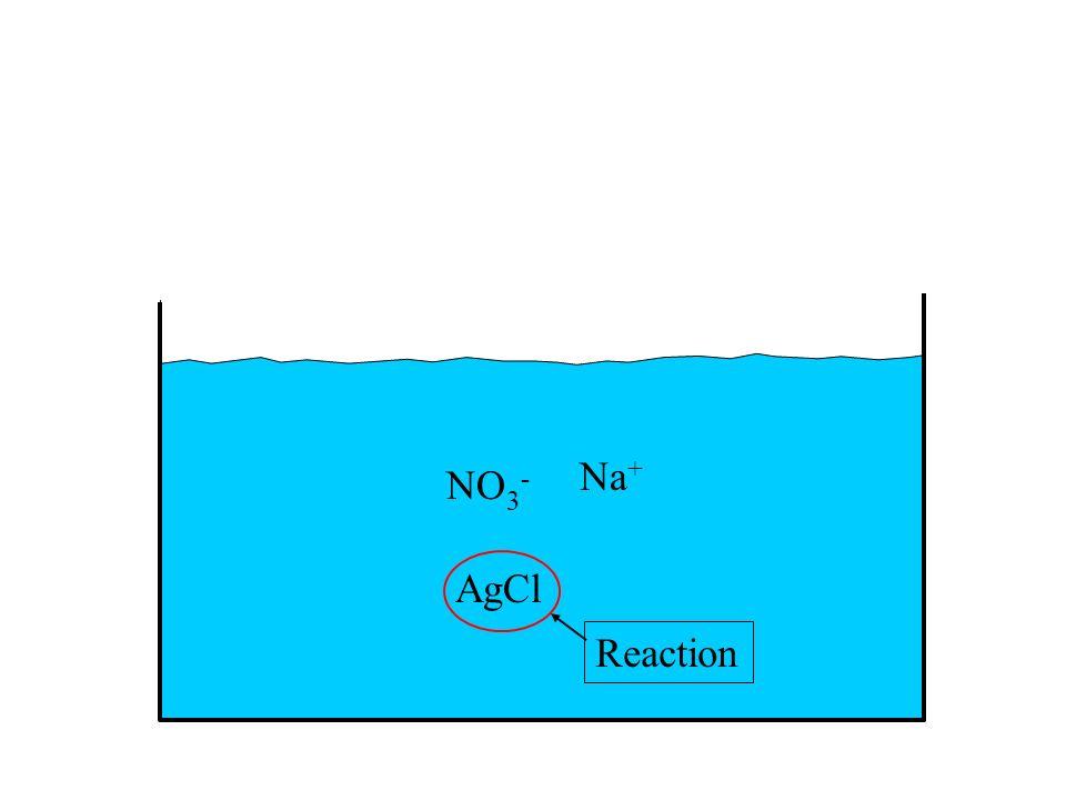 NO 3 - Na + AgCl Reaction