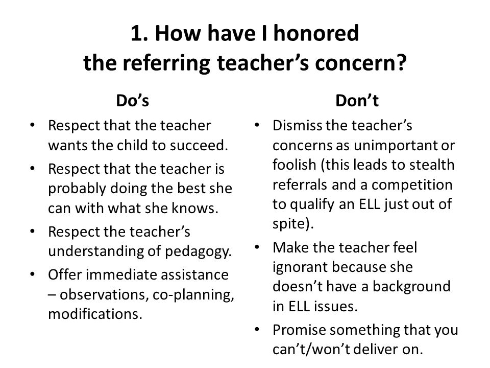 6.To whom is the ELL student being compared.