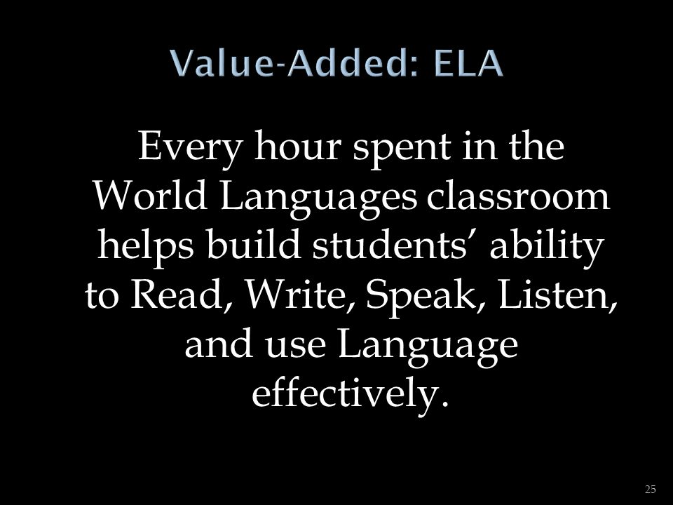 ENGLISH LANGUAGE ARTS CCSS STANDARDS FOR FOREIGN LANGUAGE (FL) LEARNING 1.