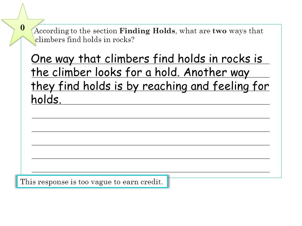 3 According to the section Finding Holds, what are two ways that climbers find holds in rocks.