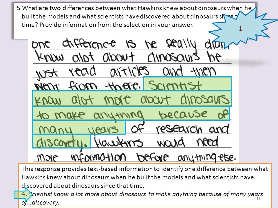 5 What are two differences between what Hawkins knew about dinosaurs when he built the models and what scientists have discovered about dinosaurs sinc