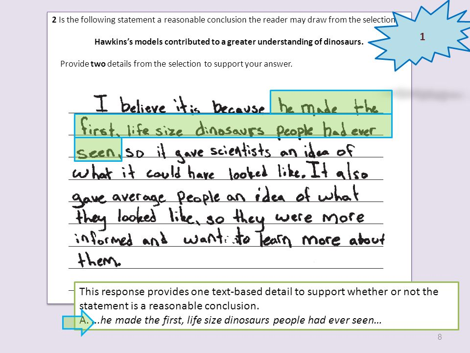 5 What are two differences between what Hawkins knew about dinosaurs when he built the models and what scientists have discovered about dinosaurs since that time.