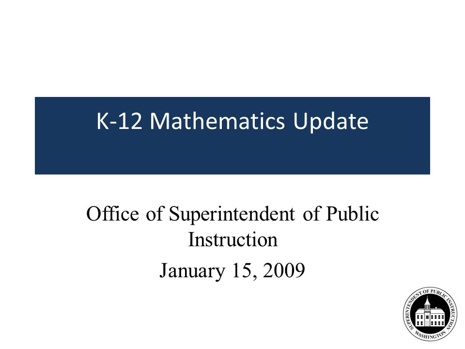 Agenda High School Core/Comprehensive Instructional Materials Review Process and Recommendations Supplemental Materials Review Update Curriculum Usage and Adoption Survey Online Mathematics Curriculum