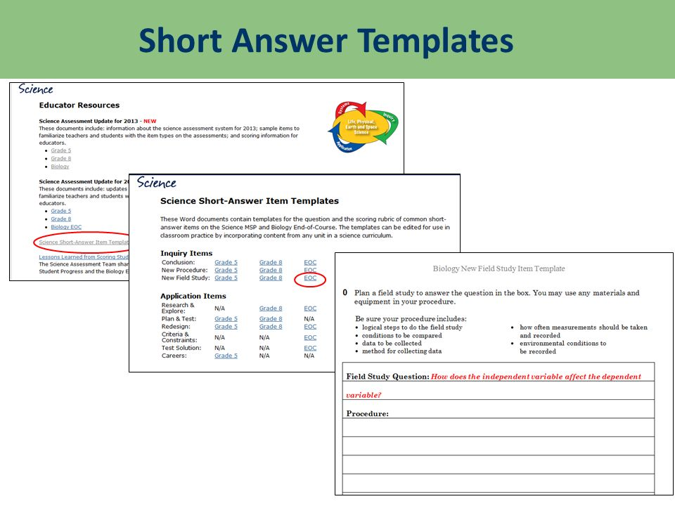 Short Answer Templates