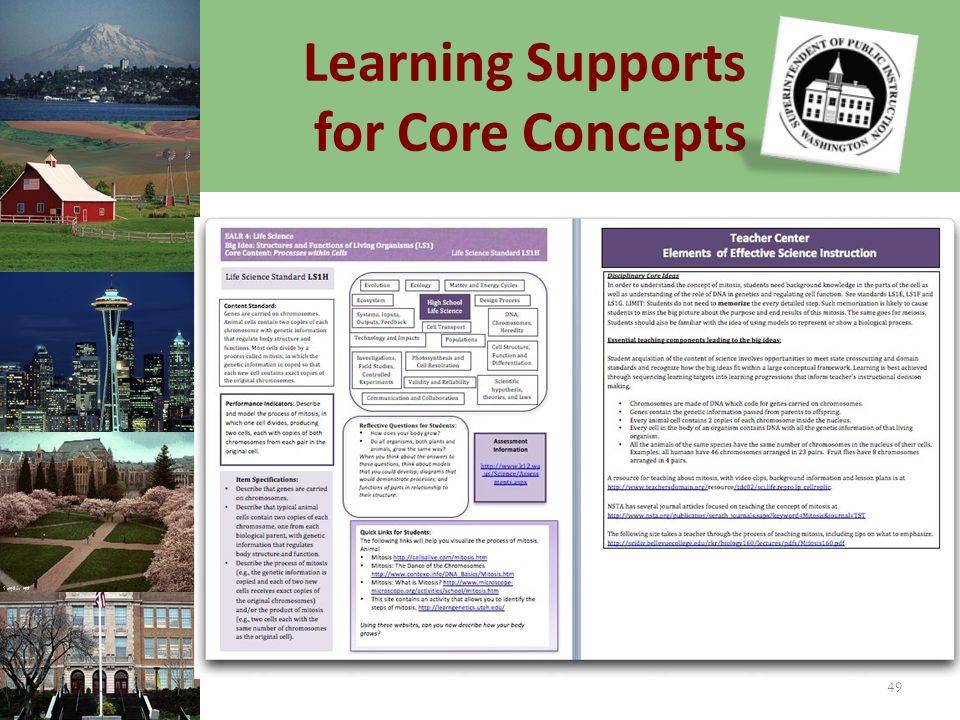 Learning Supports for Core Concepts 49