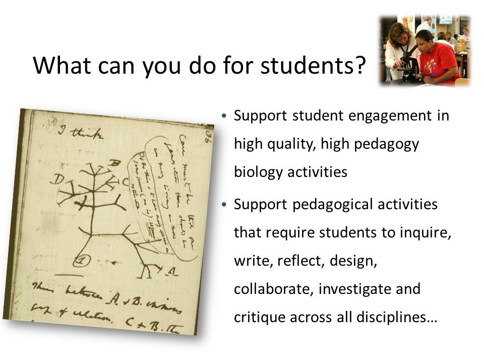 What can you do for students.