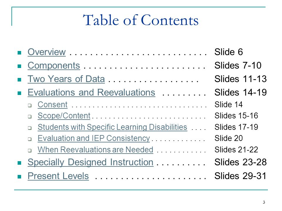 3 3 Table of Contents Overview........................... Slide 6 Overview Components........................ Slides 7-10 Components Two Years of Data