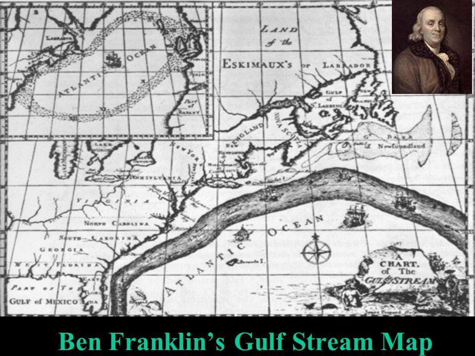 Ben Franklins Gulf Stream Map