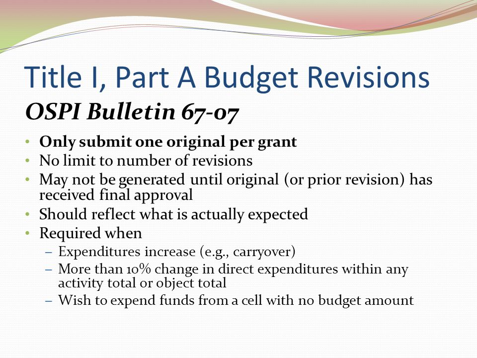 iGrant Revisions Title I, Part A Added building parent involvement plan assurance Some renumbering List assessments (rather than describe) Checklist for supplemental assistance District parent involvement policy boxes