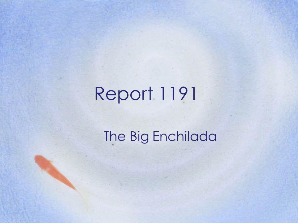 Report 1191 The Big Enchilada
