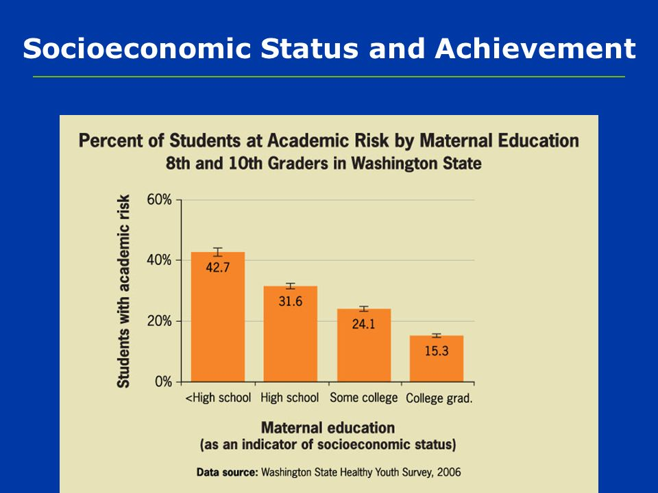 Socioeconomic Status and Achievement