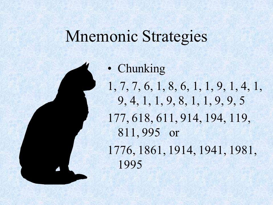 Mnemonic Strategies Chunking Key Word –Kings Play Cards On Fuzzy Green Stools