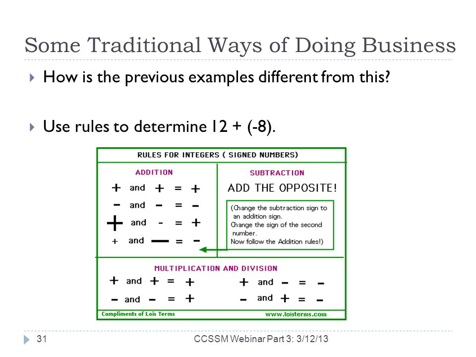 Some Traditional Ways of Doing Business How is the previous examples different from this.