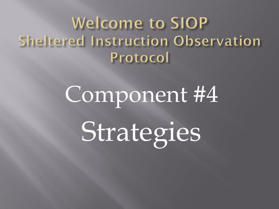 Component #4 Strategies