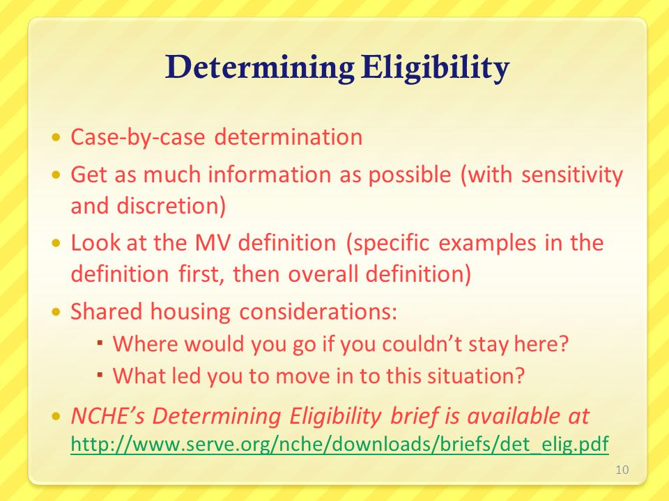 Case-by-case determination Get as much information as possible (with sensitivity and discretion) Look at the MV definition (specific examples in the d