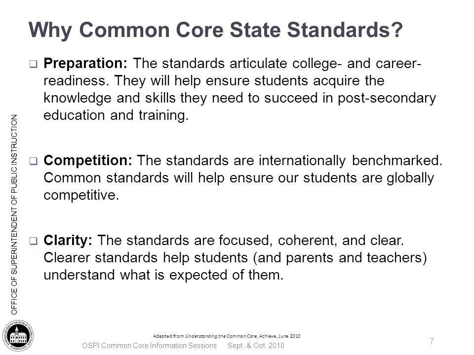 SMARTER Balanced Assessment Consortium -- Member States -- OSPI Common Core Information Sessions Sept.