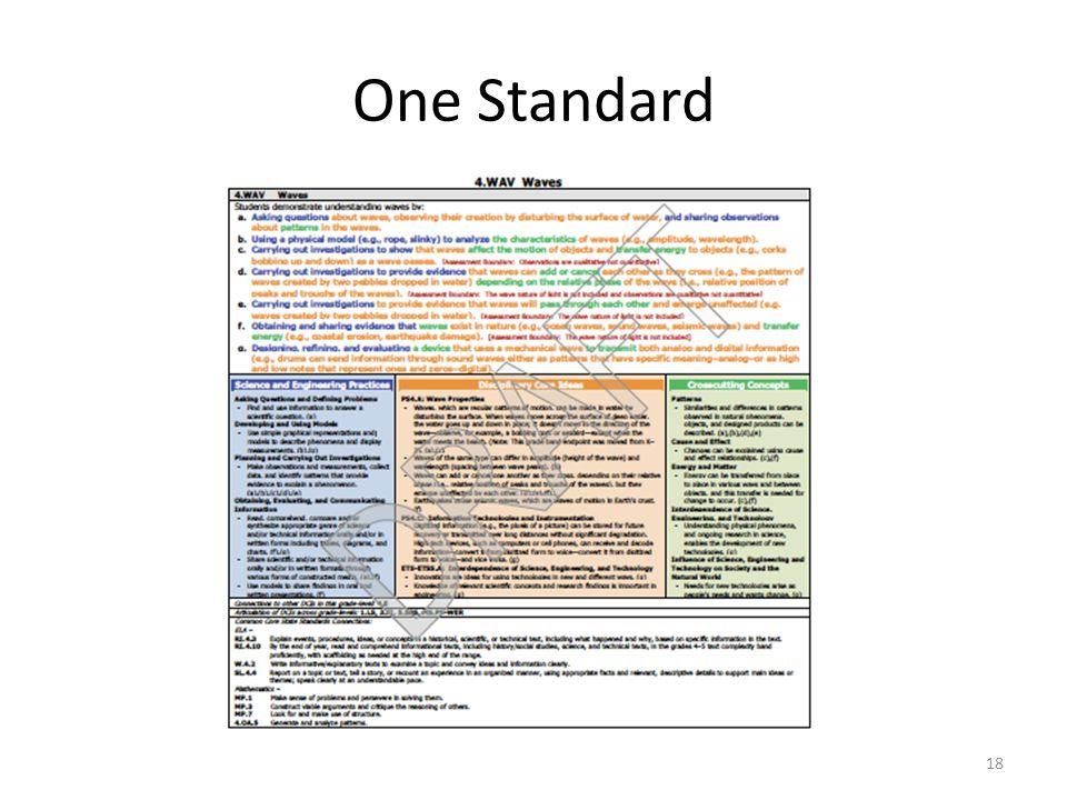 One Standard 18