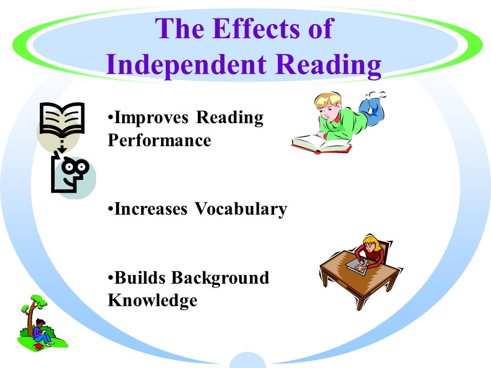 The Effects of Independent Reading Improves Reading Performance Increases Vocabulary Builds Background Knowledge
