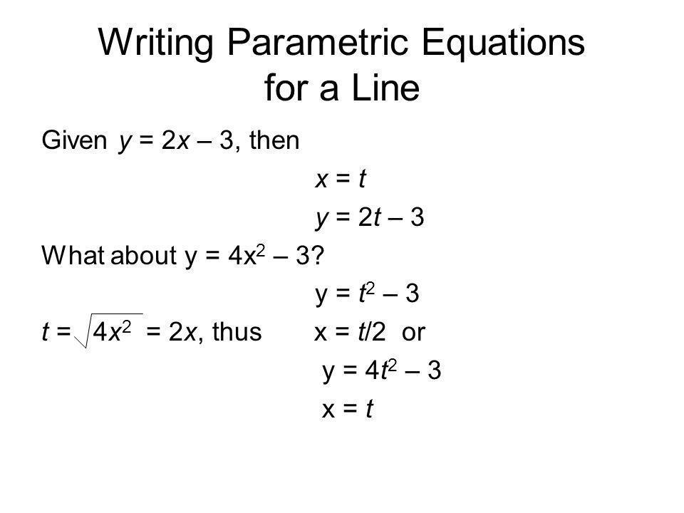 How To Do Parametric Equations - Jennarocca