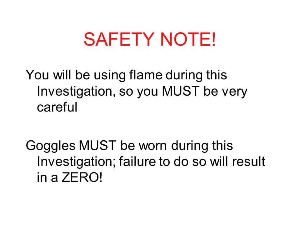 SAFETY NOTE.