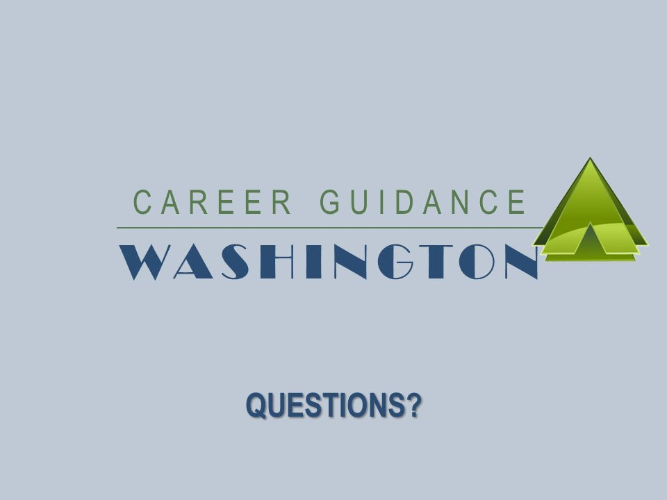 CAREER GUIDANCE WASHINGTON QUESTIONS