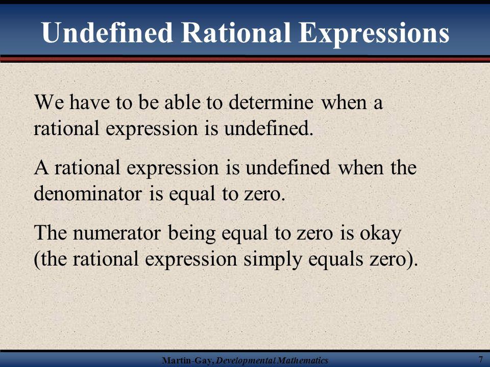 Martin-Gay, Developmental Mathematics 47 Solve the following rational equation.