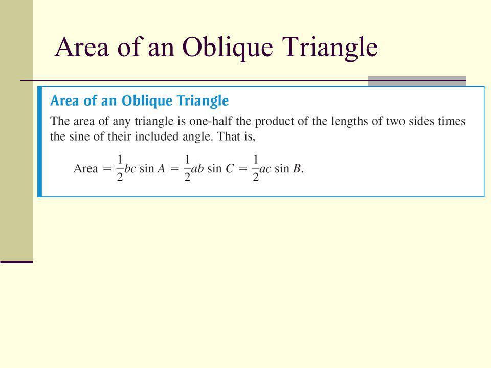 Area of an Oblique Triangle