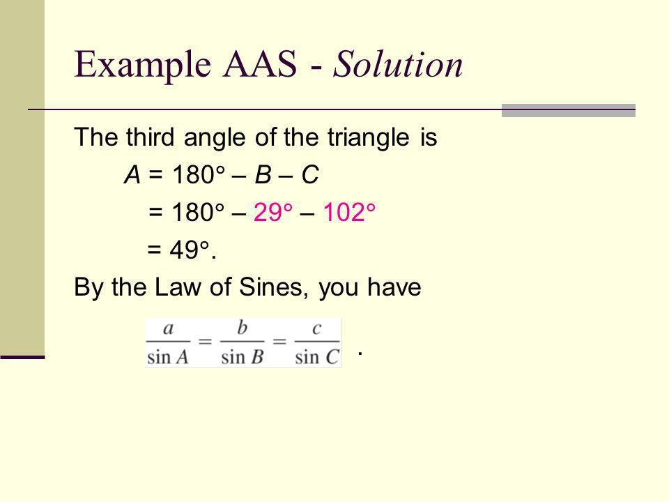 Ambiguous Case 1.Is it Law or Sines or Law of Cosines 1.