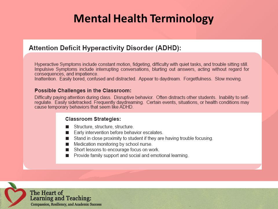 Mental Health Terminology