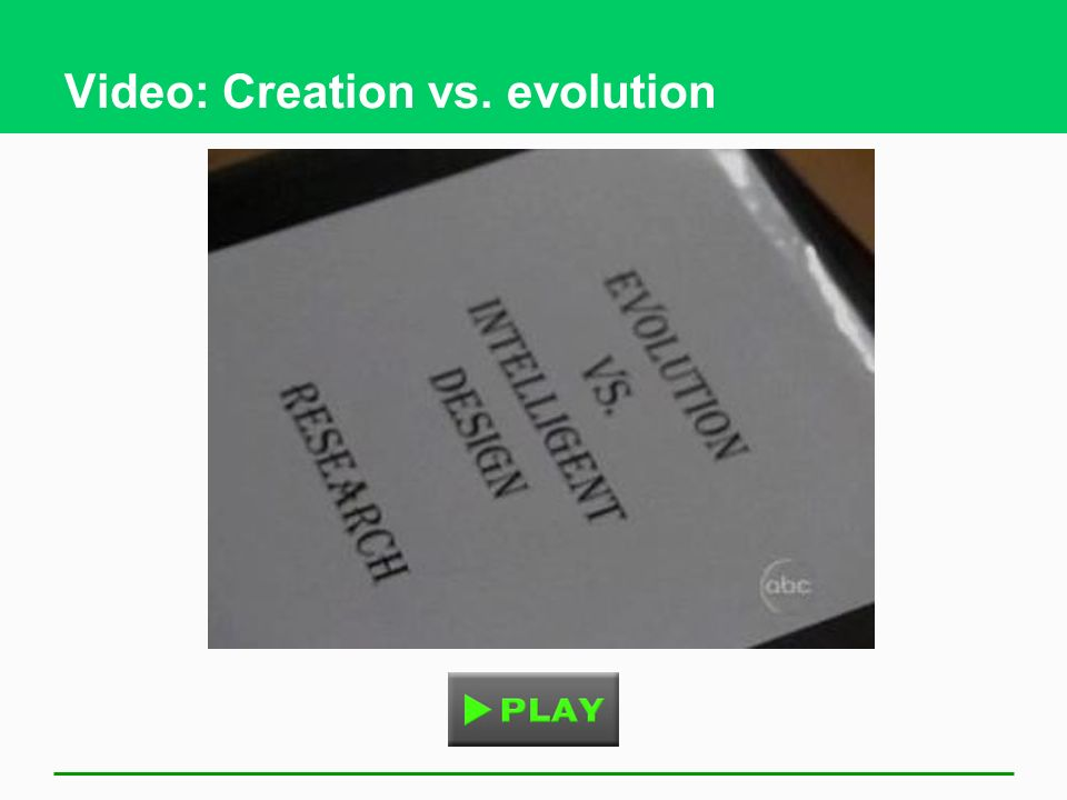 Video: Creation vs. evolution