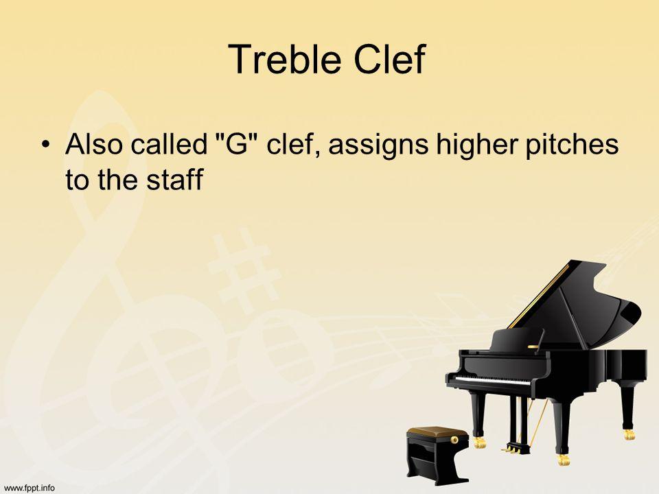 Treble Clef Also called