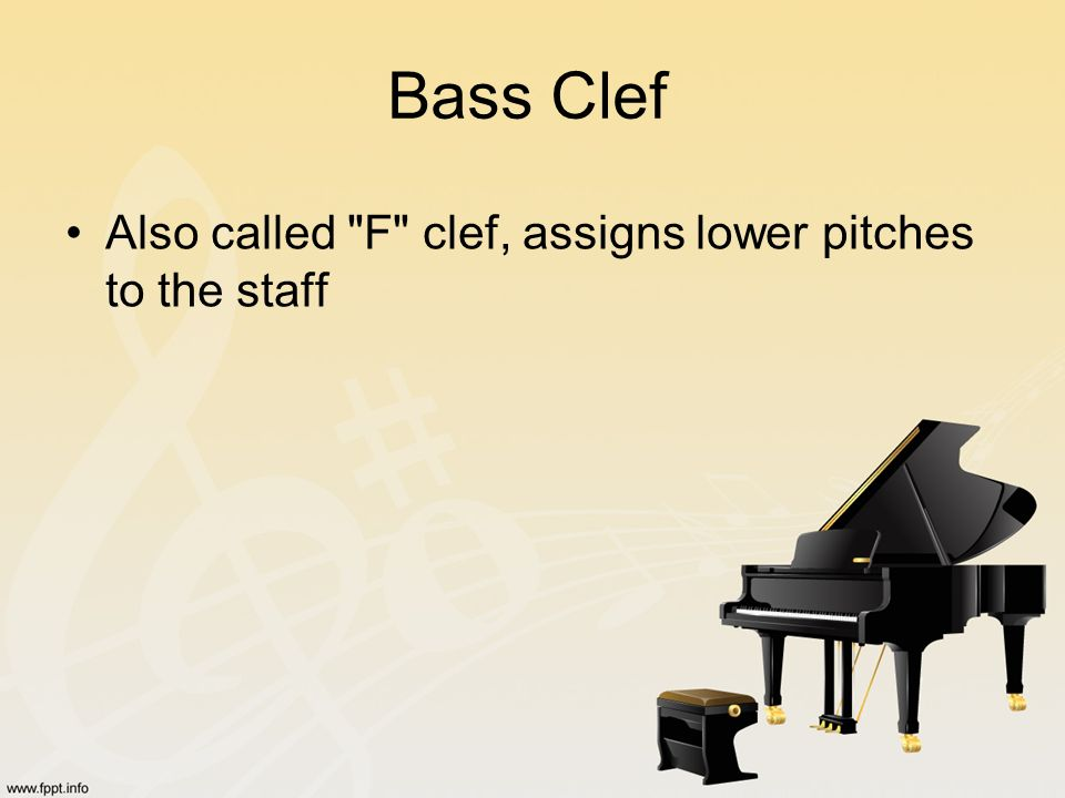 Bass Clef Also called