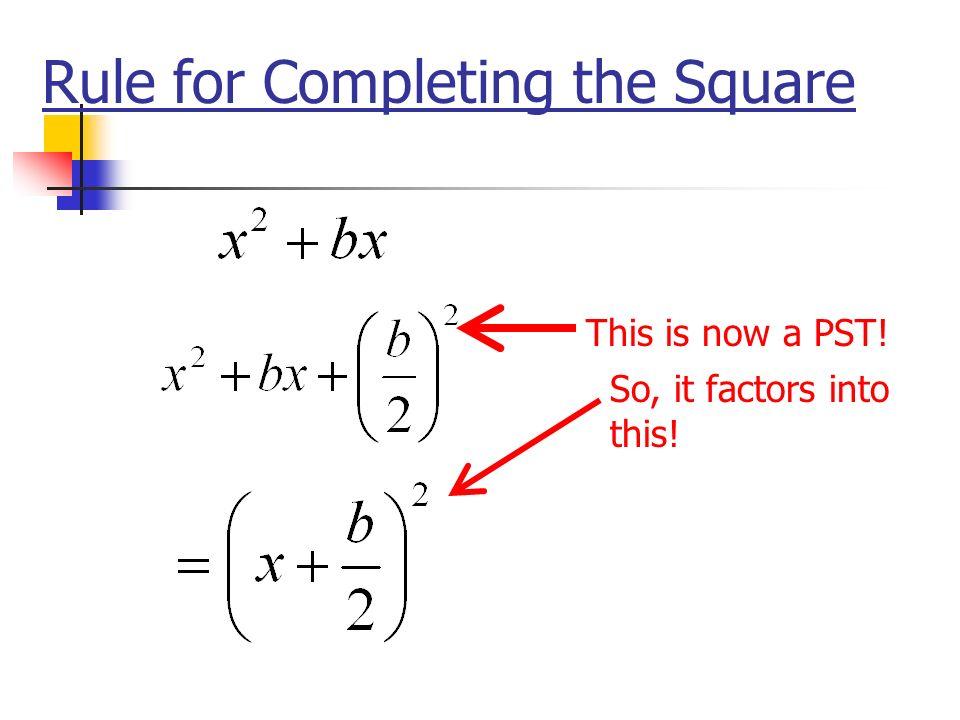 Perfect Square Trinomials l Examples l x 2 + 6x + 9 l x 2 - 10x + 25 l x 2 + 12x + 36