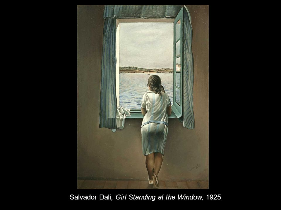 Salvador Dali, Girl Standing at the Window, 1925