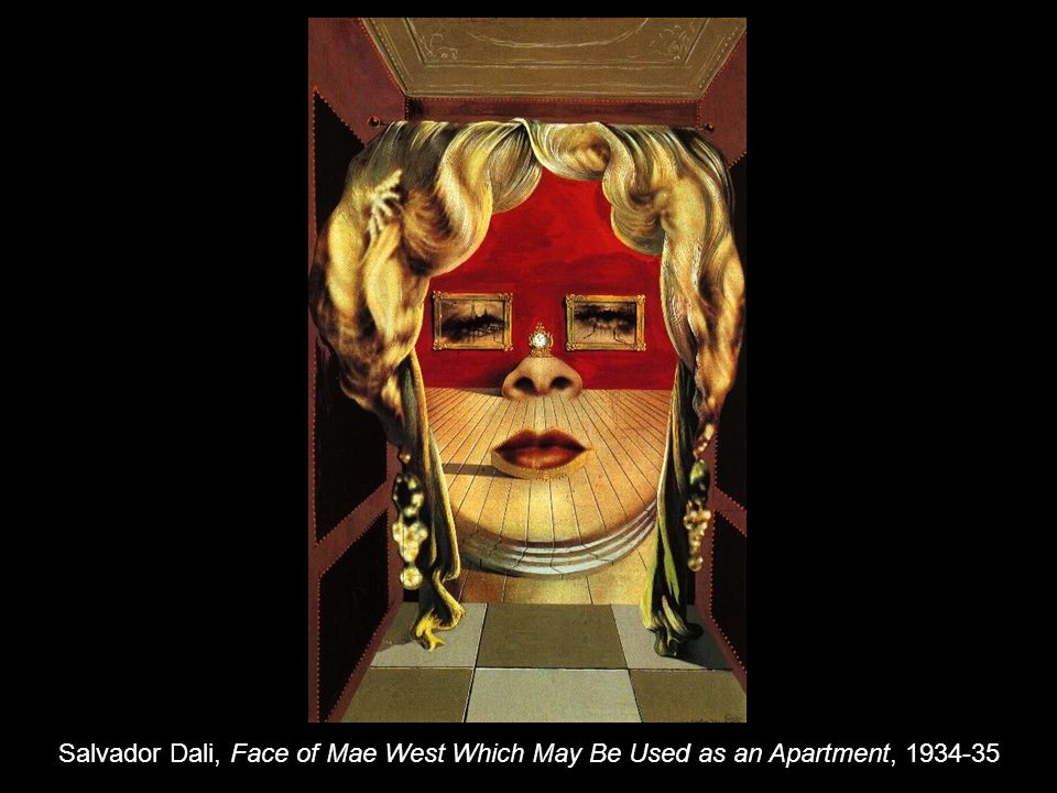 Salvador Dali, Face of Mae West Which May Be Used as an Apartment, 1934-35
