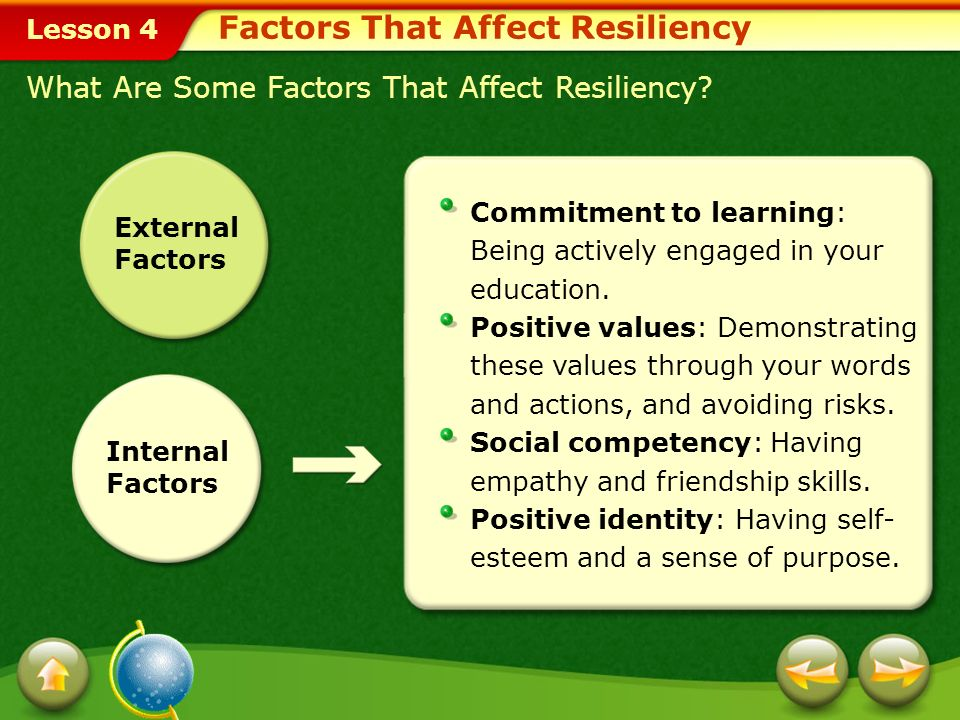 Lesson 4 What Are Protective Factors.